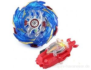 YMMONLIA Beyblade Burst Turbo Set Gyro Burst Kreisel Set 4D Bayblade Spielzeug Geschenk + Launcher Mit Box Set