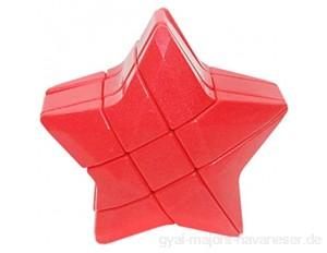 COMVIP Kunststoff-Würfel in Sternform ohne Aufkleber magischer Würfel für schnelles Puzzle Rot