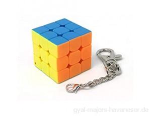 Ludokubo Puzzle Schlüsselanhänger Würfel 3x3x3 ohne Aufkleber (3 cm)