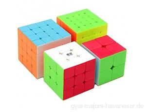 HXGL-Würfel Puzzles Würfel Set Magic Cube Bundle 2x2 3x3 4x4 5x5 Cube Set Puzzles Box Finger Spielt Geschenk Solide Durable Stufenloses Drehen for Erwachsene Kinder Studenten Denkaufgabe