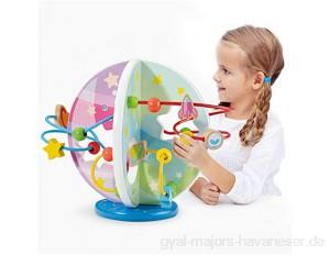 Perlenlabyrinth Perlen Maze Spielzeug Roller Coaster Vorschule Frühes pädagogisches Spielzeug Geschenk für Kind Kinder Jungen Mädchen für Kinder (Color : Multi-colored Size : One size)