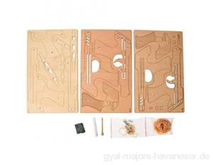 Labuduo 3D Holzpistolen Puzzle Spielzeug Pädagogisches Handwerk Puzzle DIY Baugruppe Modell Konstrukteur Kit Holz Mechanisches Geschenk für Kinder Adul