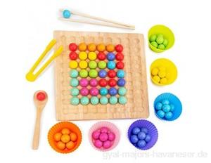 Further Rainbow Ball Elimination Spiel Spielzeug mit Clips Holz pädagogisches Puzzle Brettspiel Kinder Eltern Interaktion Familienspiel Spielzeug-Set