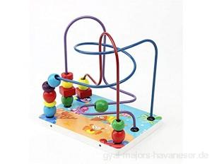 JIAGU Gehirnspiel Hölzerne Klassische Korn-Labyrinth Holzperlen Maze Game Cube Spielzeug Lern Abacus Perlen Kreis Spielzeug (Color : Multi-Colored Size : Free Size)