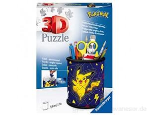 Ravensburger 3D Puzzle 11257 - Utensilo Pokémon Pikachu - 54 Teile - Stiftehalter für Pokémon Fans ab 6 Jahren Schreibtisch-Organizer für Kinder