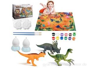 Achort Dinosaurier Malset Dinosaurier Figuren Selber Gießen zum Bemalen und Basteln Dinosaurier Figuren Malset Bastelset Kinder DIY Kreativ Spielzeug Geschenk für Geburtstag Weihnachten