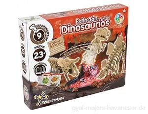 Science4you-fossile Ausflüge 4 in 1 wissenschaftliches und pädagogisches Spielzeug Extinción bunt