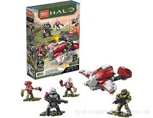Mega Construx Halo Infinite - GVP42 - Hijacked Ghost Kleines Fahrzeug + 4 Actionfiguren - 123 Stück - Neu