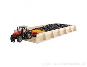 Kids Globe Riesen-Fahrsilo für Traktoren aus Holz ( Silo Fahrsilo Spielzeug Lagerhaus) Größe 30 x 60 x 6 cm Maßstab 1:32
