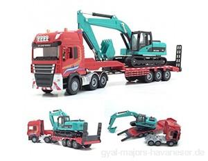 Baufahrzeug 1:50 Pritschenanhänger & Engineering-legierungsmodell Druckguss-Engineering-Transporter Kinderspielzeuggeschenk