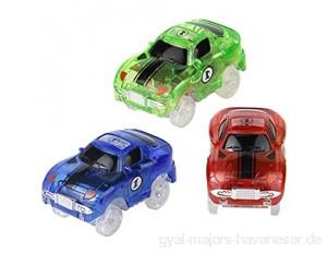 Nuheby Auto Spielzeug LED Blinklichtern für Autorennbahn 1 Spielzeugauto für Kinder über 3 Jahre (Zufällige Farben)