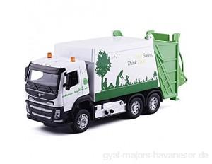 Baufahrzeug Hohe Simulation 1:32 Alloy Green Think Clean Müllwagen Volvo Truck Originalverpackung Geschenkbox