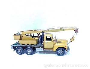 Item Vehiculo Dekoration Metall LKW grob gelb Maße 41 x 12 x 16 cm ist ein Sammlerstück mit großem Detail.