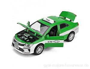 ZhaoXH Sechs-Tür Taxi mit Stimme Legierung Automodell Kinderspielzeugauto Taxi Mit Licht und Open-able Türen for Kinder Geschenke 3 4 5 Jahre alt (Color : Green)