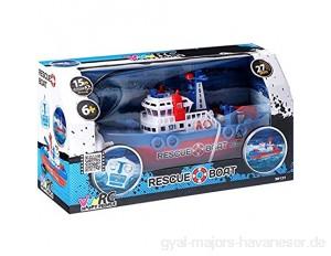 Happy People 30131 Rc Rescue Boat Mehrgarbig