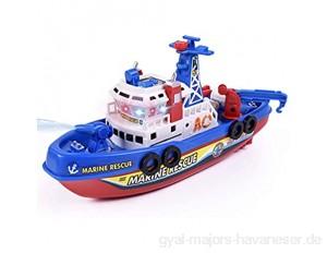 ulofpc Kinder-Elektro-Modell Spielzeug mit leichtem und Schall Feuer Boot Wasserstrahl Marine Kriegsschiff