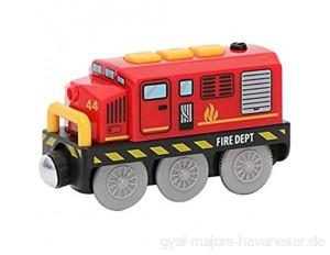 Elektrischer Zug Holzeisenbahn Spielzeug für Kinder Magnetisches Zug Batteriebetriebener Lokomotive Zug Spielzeug Holzbahn Magnet Zug Kompatibel mit BRIO Holzschiene