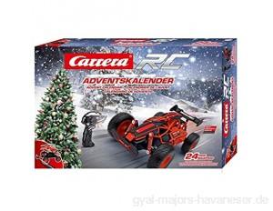 Carrera RC Adventskalender 2 4 GHz Buggy Rot │ Ferngesteuertes Auto aus 24 Bauteilen bauen │Elektro-Mini-Car zum Mitnehmen inkl. Fernbedienung │Weihnachtskalender für Kinder ab 12 Jahren & Erwachsene