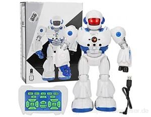 Zerodis RC Robot Toy intelligentes programmierbares ferngesteuertes Roboterspielzeug mit Licht-Soundeffekt Intelligenter elektrischer Roboter für 3-12 Jahre alte Jungen Mädchen Geburtstag