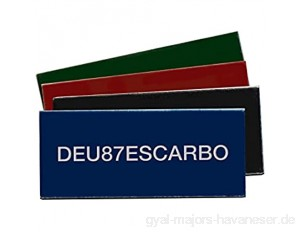 ESCARBO Drohnen Kennzeichen Nano Premium EU Drohnen Plakette / e-ID Plakette (Blau)