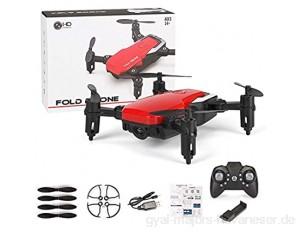 Mini Drohne mit Kamera WiFi FPV Mini Quadcopter Faltbare RC Drohnen mit Kamera HD Höhe Halten Mini Eders Kid Spielzeug RC Hubschrauber (Rot)