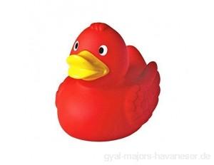 Mein Zwergenland Quietsche-Ente Quietscheente Badeente Bath Duck red rot